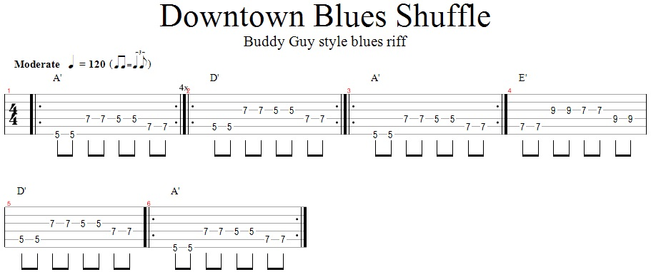 Downtown Blues Shuffle (Buddy Guy style)