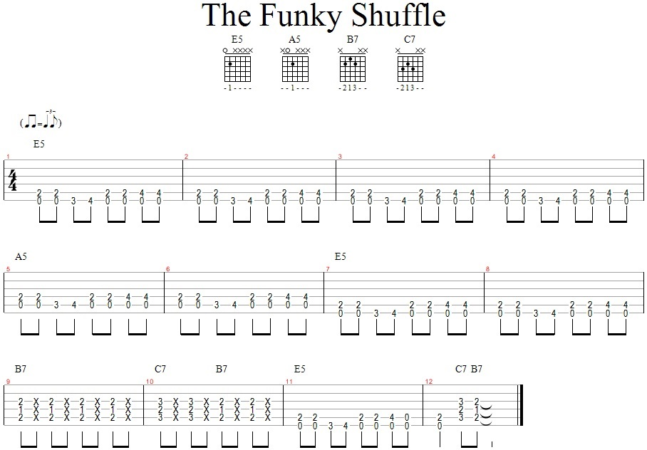 The Funky Shuffle_GitarosPamokos.lt