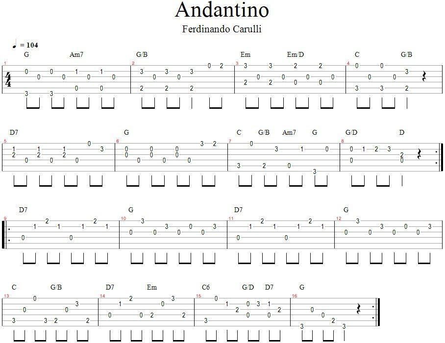 F. Carulli - Andantino_Gitarospamokos.lt