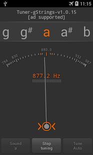 Programele gitaros derinimui - gStrings (Android)