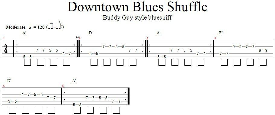 Downtown Blues Shuffle (Buddy Guy style)
