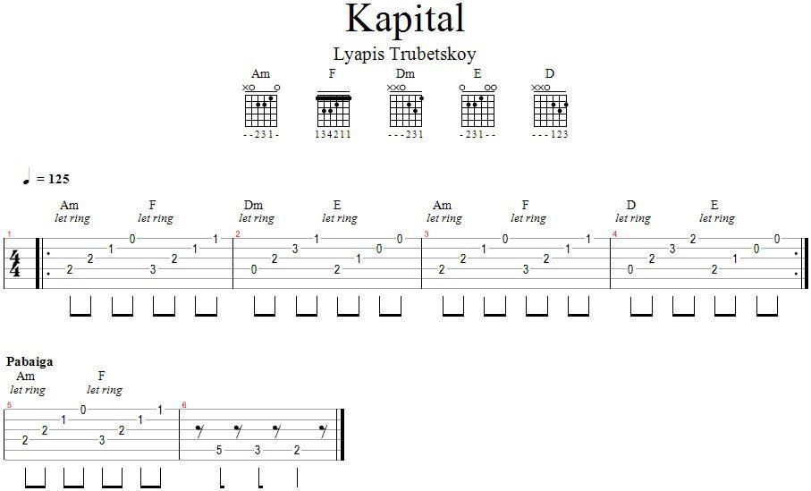Lyapis Trubetskoy - Kapital_GitarosPamokos.lt
