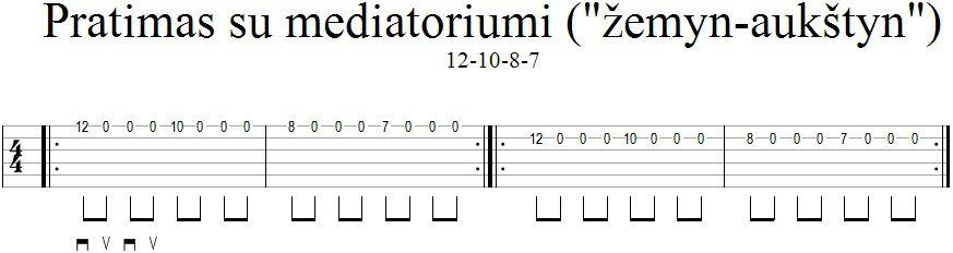 Pratimas su mediatoriumi 12-10-8-7_GitarosPamokos